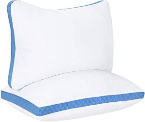 Blue Gusset - King Quilted Pillow (2-Pk)