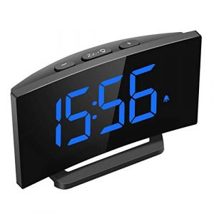 Digital Alarm Clock, 5'' Curved LED Screen