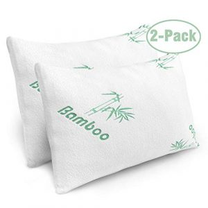 2 Pk Shredded Memory Foam Pillows Bamboo
