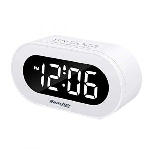 Small LED Digital Alarm Clock white