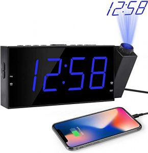 Alarm Clock With Projection Dual Alarm