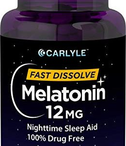Carlyle Melatonin Fast Dissolve Tablets Berry