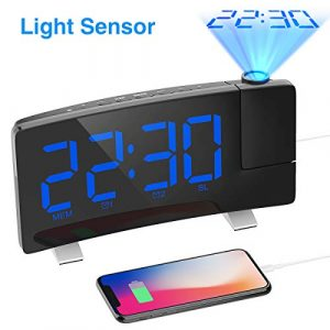 Projection Alarm Clock Curved-Screen