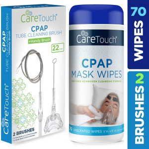 CPAP Mask Wipes, Unscented +2 brushes